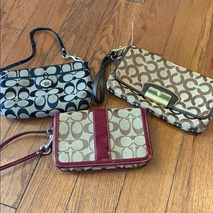 COACH WRISTLET LOT OF 3